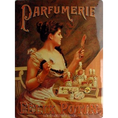 Plaque métal publicitaire 30x40cm  plate relief :  Parfumerie Félix Potin.