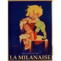 Plaque métal publicitaire 30x40 cm plate : Savon La Milanaise.