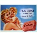 Plaque métal publicitaire 30x40 cm plate : Savon Cadum.