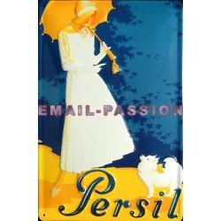 Plaque métal publicitaire 20x30 cm bombée en relief : Lessive Persil.
