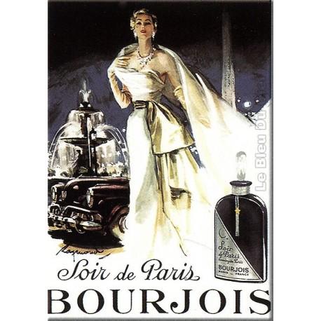 Plaque métal publicitaire 30x40cm plate : Bourjois soir de Paris.