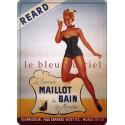 Plaque métal publicitaire 30x40cm plate : Maillot de bain REARD.