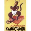 plaque publicitaire plate 15 x 21cm Slip Kangourou