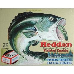 Plaque métal publicitaire 30x40cm plate : Grenouilles Heddon.