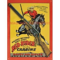Plaque métal publicitaire 30x40cm plate : Red Ryder carabine