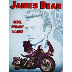 Plaque métal publicitaire 30x40 cm plate : James Dean.