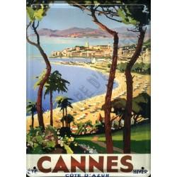 plaque publicitaire 15x21cm :   Cannes été-hiver