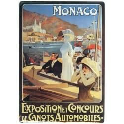 Plaque métal publicitaire 15x21cm plate : Monaco.