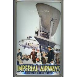 Plaque métal publicitaire bombée en relief :  Impérial Airways.