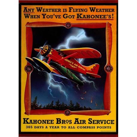 Plaque métal publicitaire 30x40cm plate : Kahonee Bros Air Service.