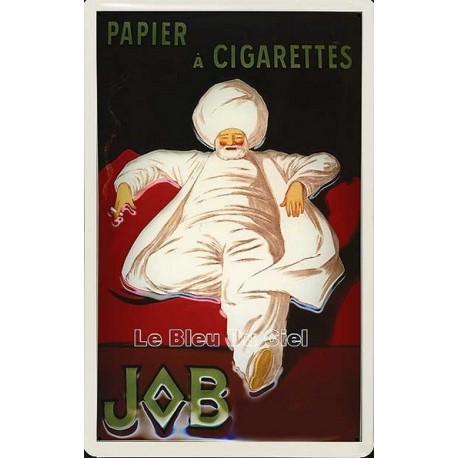 Plaque métal publicitaire 20x30cm bombée en relief : Papier à cigarettes JOB