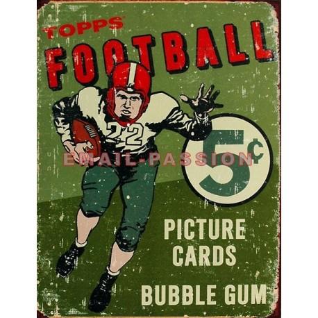 Plaque métal publicitaire 30x40 cm plate : Football américain Bubble Gum.