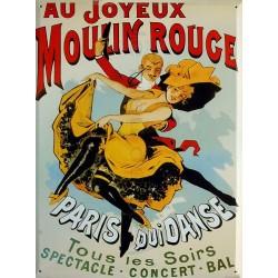 Plaque métal publicitaire 30x40 cm plate  : Moulin Rouge.