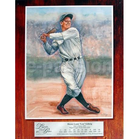 Plaque métal publicitaire 30x40cm plate : Henri Louis Gehrig.