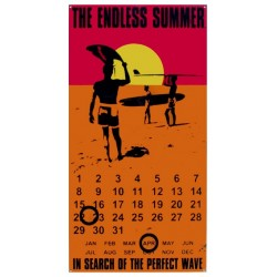 Calendrier métal publicitaire 28x40cm plat : The Endless Summer