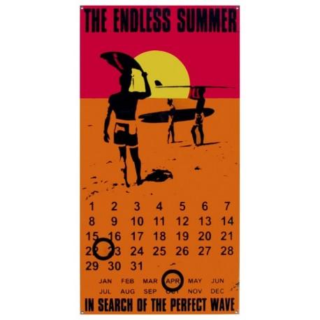 Calendrier métal publicitaire 28x40cm plat : The Endless Summer