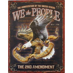 Plaque métal publicitaire 30x40cm plate : The 2nd Amendment.