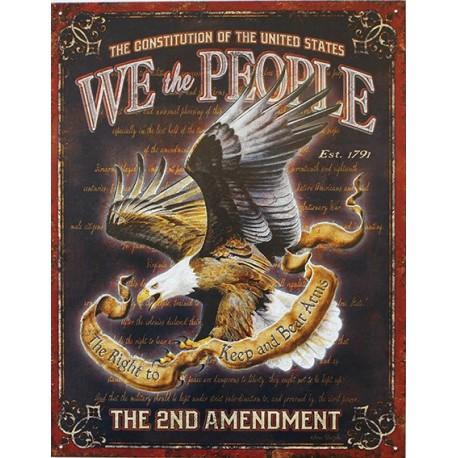 Plaque métal publicitaire 30x40cm plate : The 2nd Amendment.