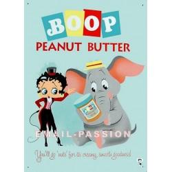 Plaque métal publicitaire 30x40cm plate : Betty Boop éléphant.
