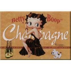 Plaque métal publicitaire 30x40cm : Betty Boop Champagne.