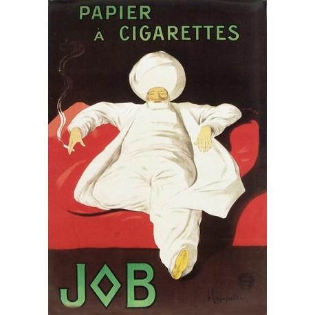 Plaque métal publicitaire 15x21cm bombée  :  Job papier cigarette.