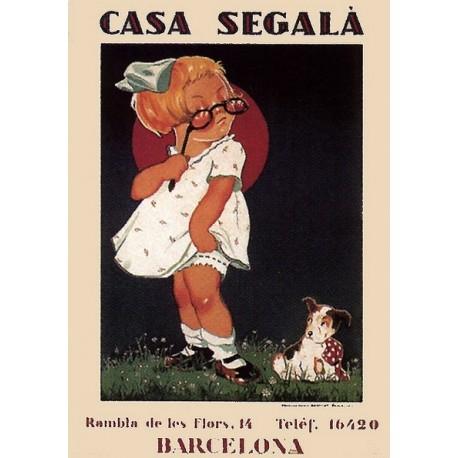Plaque métal publicitaire 15x21cm, bombée : Casa Ségala.