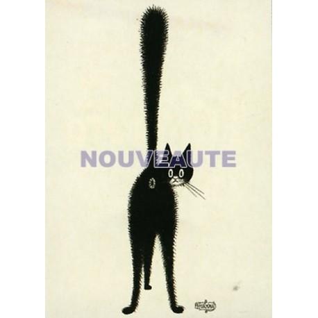 Plaque métal publicitaire 15x21cm plate : les Chats par Dubout, le 3ème oeil
