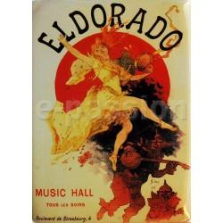 Plaque métal publicitaire 15x21cm, bombée : ELDORADO