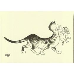 Plaque métal publicitaire 15x21cmplate : les Chats par Dubout.