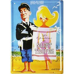 plaque métal publicitaire 15x21cm plate  : Saint Tropez