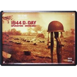 Plaque métal publicitaire 15x21cm, plate : 1944 D-DAY.