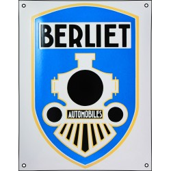 Plaque émaillée bombée BERLIET