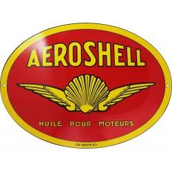 Plaque émaillée : HUILES AEROSHELL.