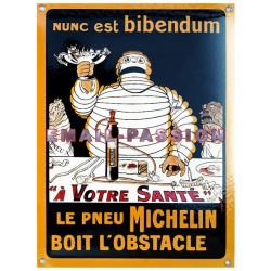 Plaque  émaillée : BIBENDUM MICHELIN