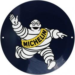 Plaque émaillée : MICHELIN.