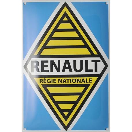 Plaque émaillée : RÉGIE RENAULT.