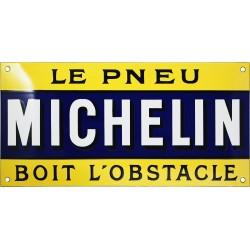 Plaque émaillée : MICHELIN BOIS L OBSTACLE