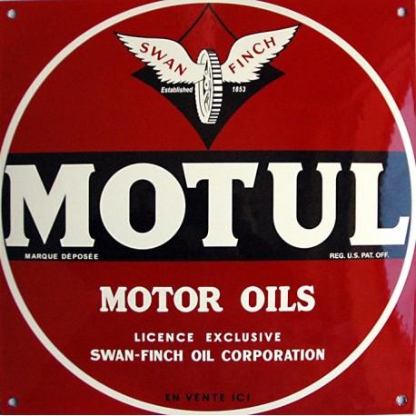 Plaque émaillée : MOTUL MOTOR OILS