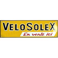 Plaque émaillée faite au pochoir : VELOSOLEX.