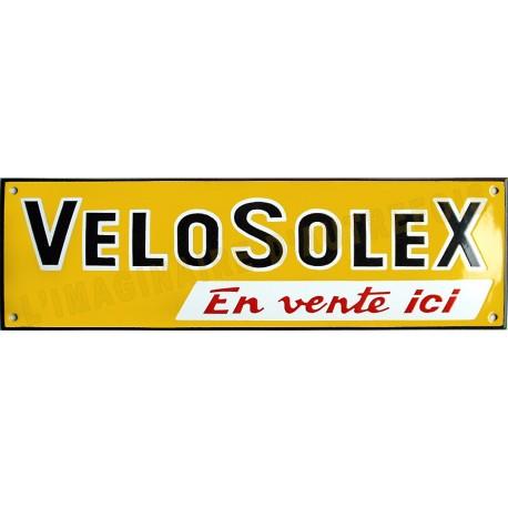 Plaque émaillée faite au pochoir :   VELOSOLEX