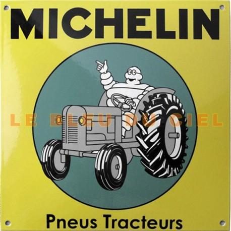 Plaque émaillée : MICHELIN PNEUS TRACTEUR