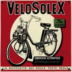 Plaque émaillée :  VELOSOLEX