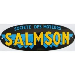 Plaque émaillée : SOCIÉTÉ DES MOTEURS SALMSON.