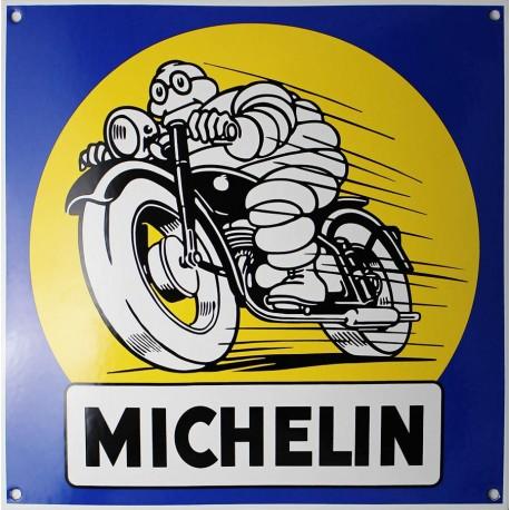 Plaque émaillée : MICHELIN PNEUS MOTO