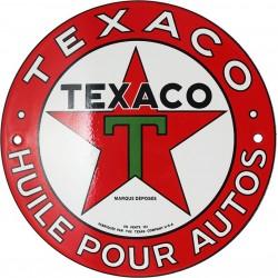 Plaque émaillée : TEXACO.