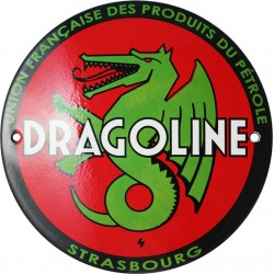 Plaque  émaillée :  DRAGOLINE