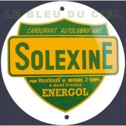 Plaque émaillée  :  SOLEXINE.