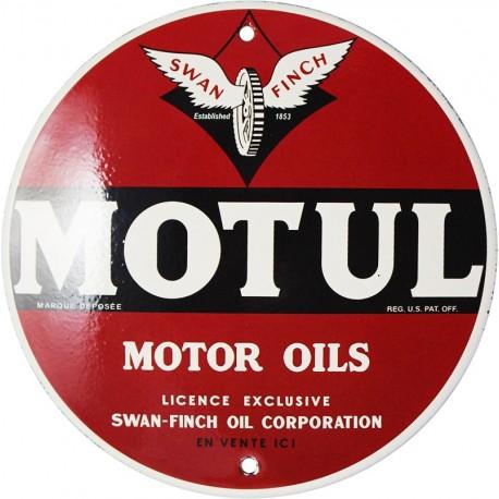 Plaque émaillée : MOTUL MOTOR OILS.