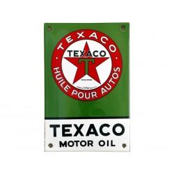 Plaque  émaillée bombée : TEXACO MOTOR