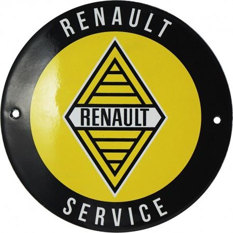 plaque émaillée : RENAULT SERVICE